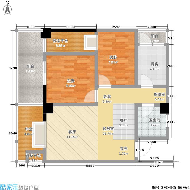 优客联邦84.00㎡优客联邦户型图1-B2型(4/7张)户型10室