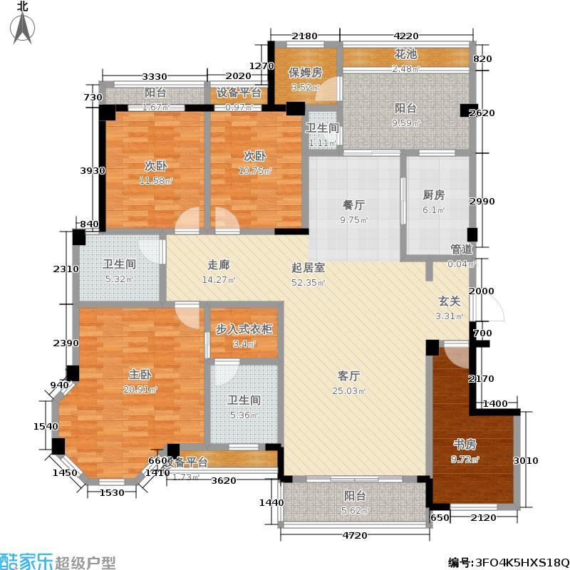 中华名园183.91㎡中华名园户型图G+型5室2厅183.91平方米(6/6张)户型10室