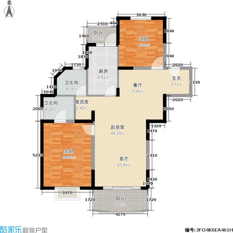 金鑫怡苑111.65㎡房型: 二房; 面积段: 111.65 -111.65 平方米; 户型