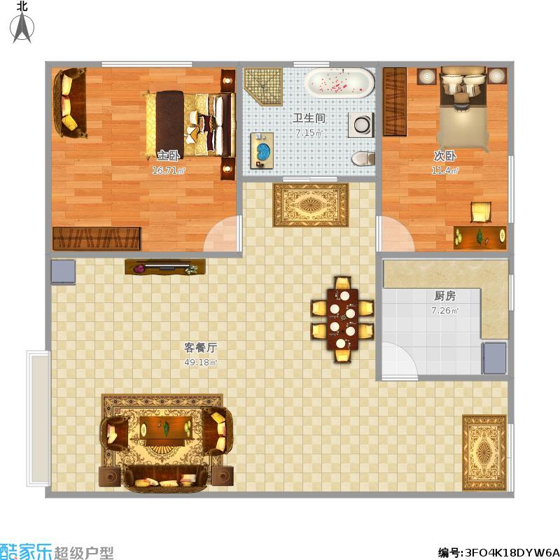 党90方两室两厅