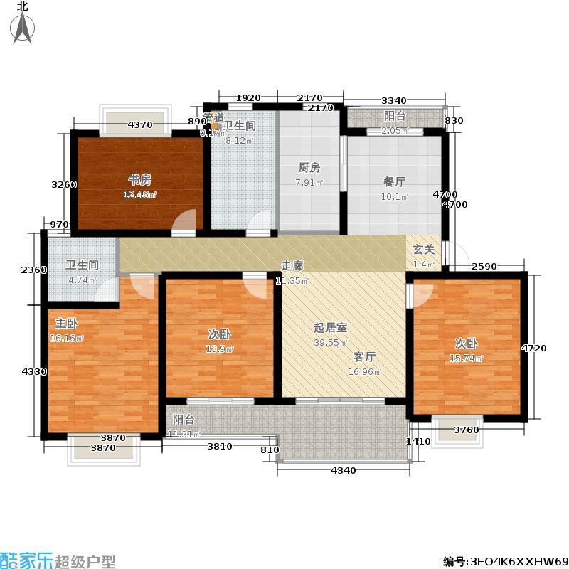 明中龙祥家园150.00㎡松江房地(2009)预字0237号四房-150-160平方米-68套户型