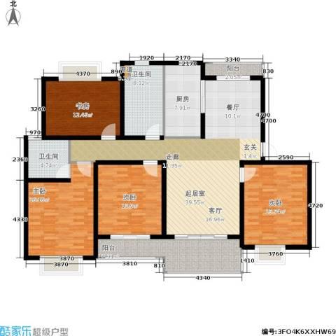 明中龙祥家园4室0厅2卫1厨150.00㎡户型图