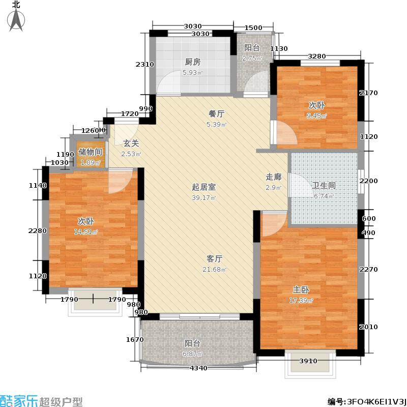 金鑫怡苑140.03㎡房型: 三房; 面积段: 140.03 -140.03 平方米; 户型