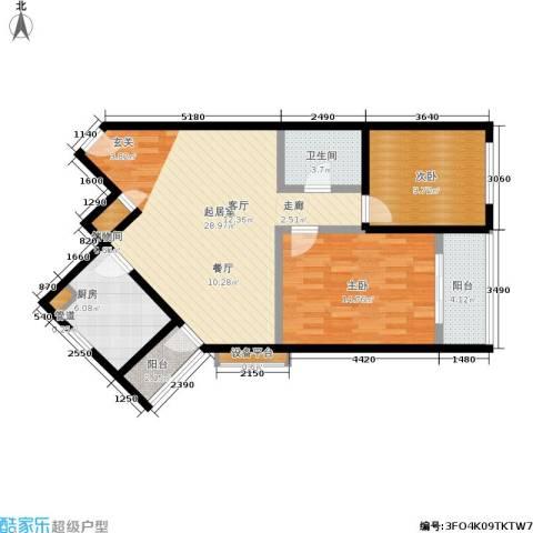 鸿丰香缇花园2室0厅1卫1厨103.00㎡户型图