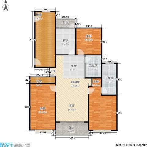 康宁雅庭3室1厅2卫1厨147.00㎡户型图