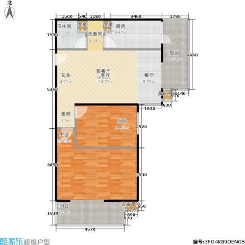 甘露家园2室1厅1卫1厨92.00㎡户型图