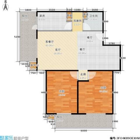 甘露家园2室1厅1卫1厨97.00㎡户型图