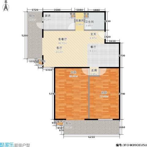甘露家园2室1厅1卫1厨108.00㎡户型图