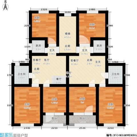 春港丽园6室2厅2卫2厨87.00㎡户型图