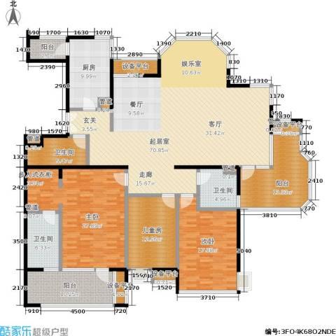 御翠尚府3室0厅3卫1厨210.00㎡户型图