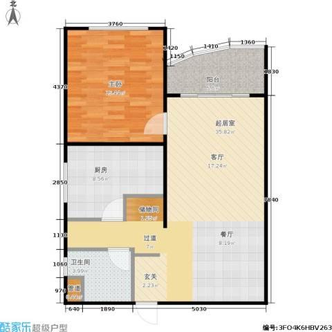 东晖花苑1室0厅1卫1厨75.00㎡户型图