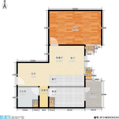甘露家园1室1厅1卫1厨58.00㎡户型图