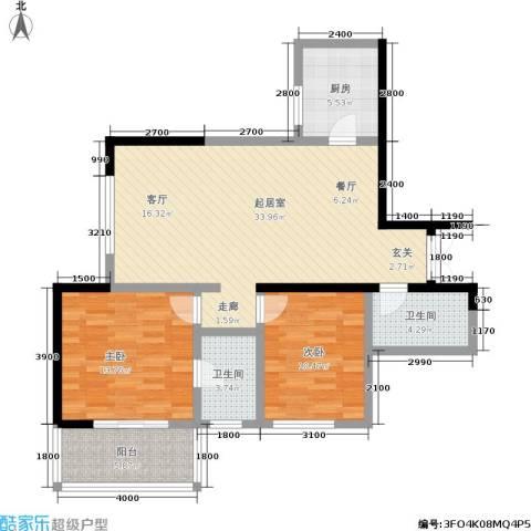 江山如画三期2室0厅2卫1厨112.00㎡户型图