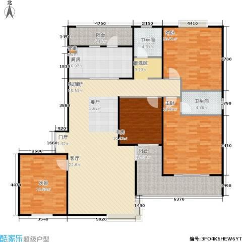 静安风华苑4室1厅2卫1厨159.00㎡户型图