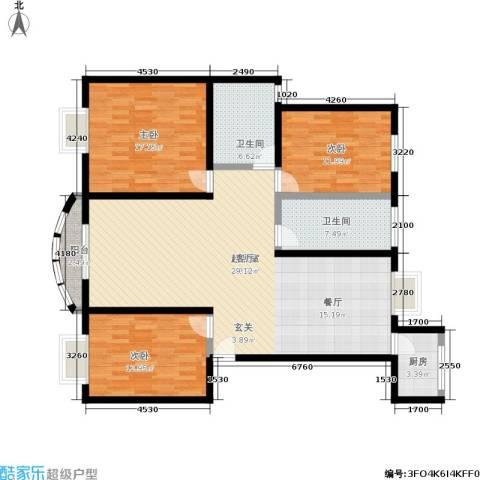 新地苑3室0厅2卫1厨125.00㎡户型图
