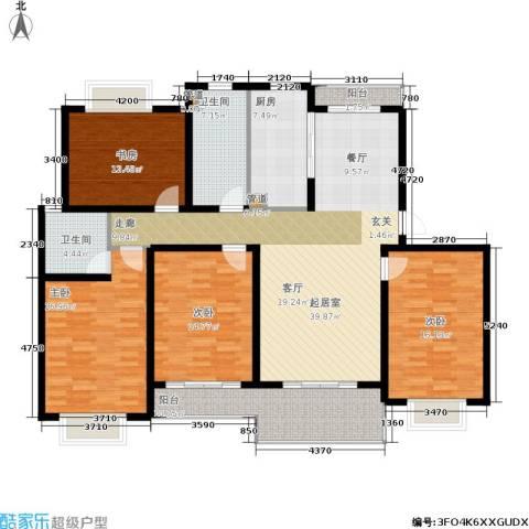明中龙祥家园4室0厅2卫1厨188.00㎡户型图