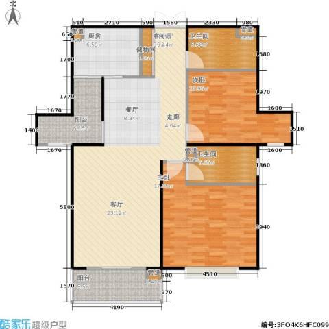 静安风华苑2室1厅2卫1厨110.00㎡户型图