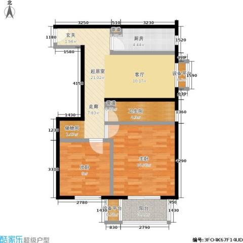 首开畅心园2室0厅1卫1厨68.00㎡户型图