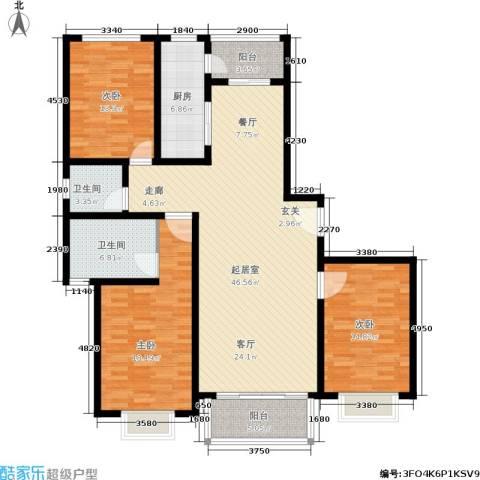 欧阳名邸3室0厅2卫1厨135.00㎡户型图