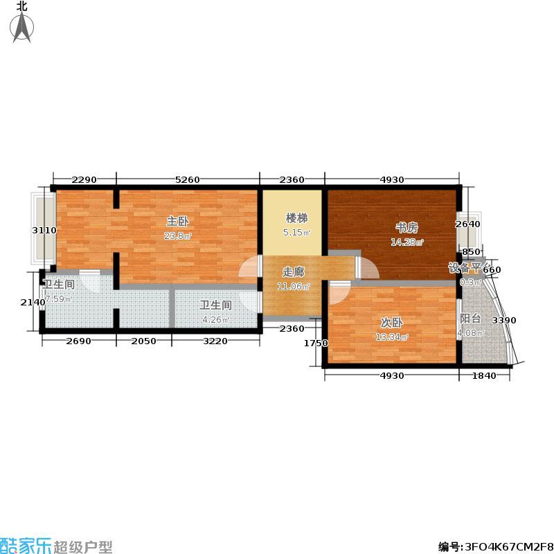 银河湾二期C5跃二层(售完)户型3室2卫