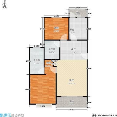 康宁雅庭2室1厅2卫1厨108.00㎡户型图