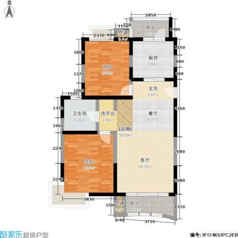 澳丽映象嘉园2室0厅1卫1厨96.00㎡户型图