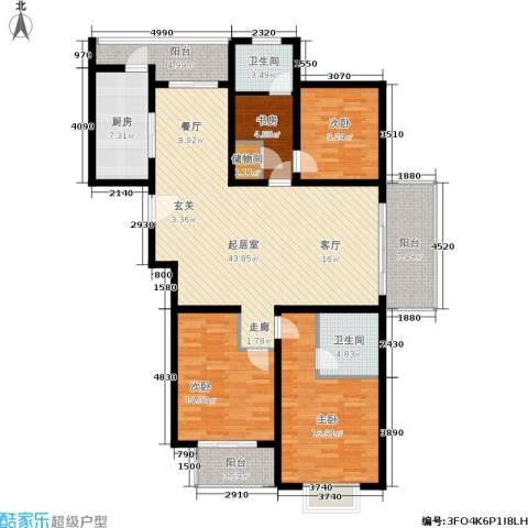 欧阳名邸4室0厅2卫1厨135.00㎡户型图