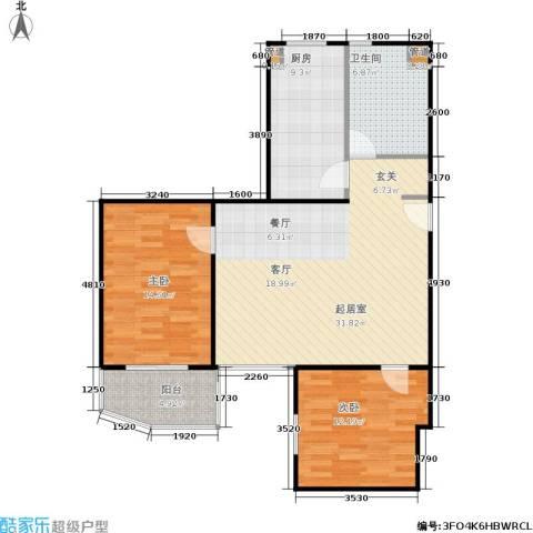 东晖花苑2室0厅1卫1厨91.00㎡户型图