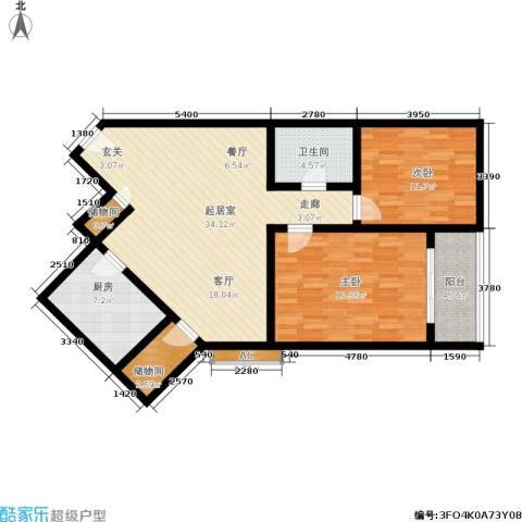 和平商厦2室0厅1卫1厨121.00㎡户型图