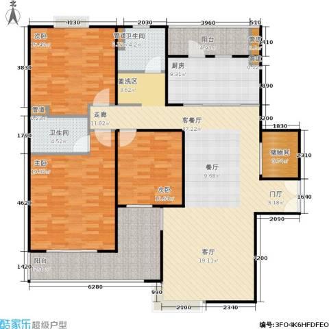 静安风华苑3室1厅2卫1厨133.00㎡户型图