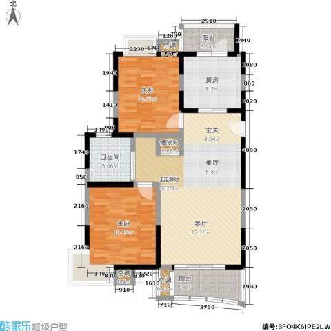澳丽映象嘉园2室0厅1卫1厨98.00㎡户型图