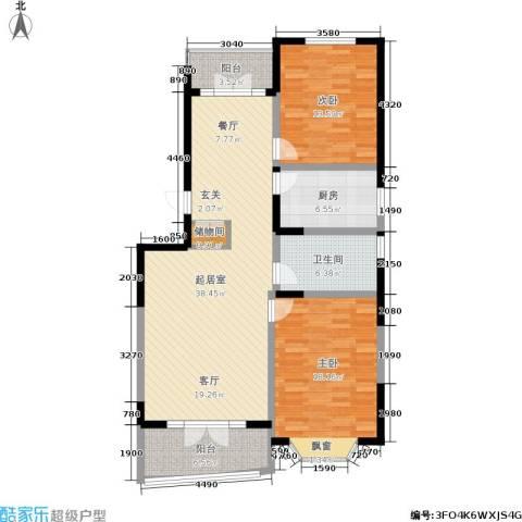 名江七星城2室0厅1卫1厨134.00㎡户型图