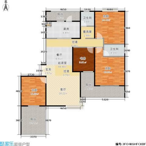静安风华苑4室0厅2卫1厨159.00㎡户型图