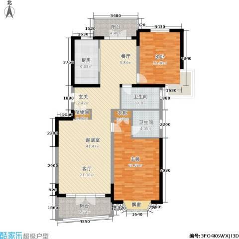 名江七星城2室0厅2卫1厨146.00㎡户型图