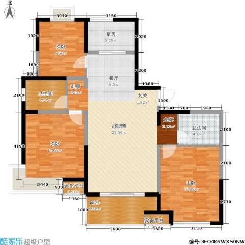 虹瑞公寓3室0厅2卫1厨144.00㎡户型图