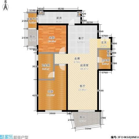 华远九都汇2室0厅2卫1厨150.00㎡户型图