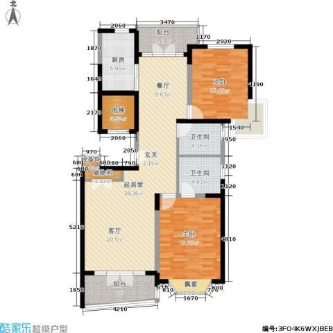 名江七星城2室0厅2卫1厨141.00㎡户型图