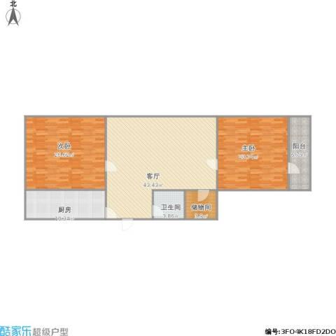花园小区2室1厅1卫1厨157.00㎡户型图