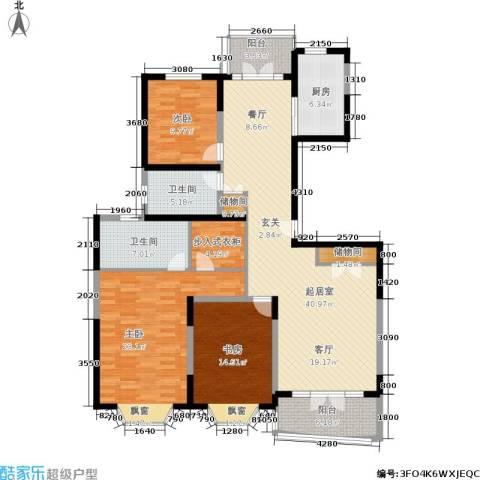 名江七星城3室0厅2卫1厨175.00㎡户型图