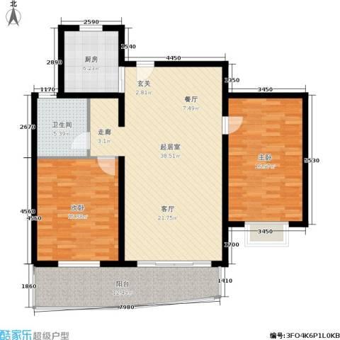 欧阳名邸2室0厅1卫1厨104.00㎡户型图