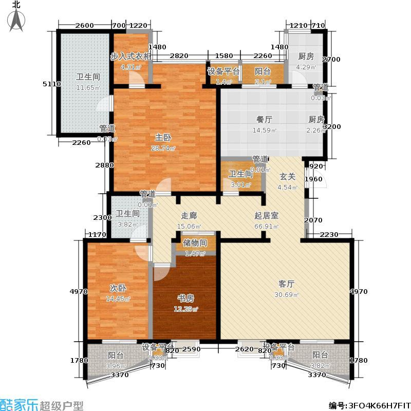 银河湾218.70㎡银河湾户型图7号楼C1三室两厅三卫(13/21张)户型10室