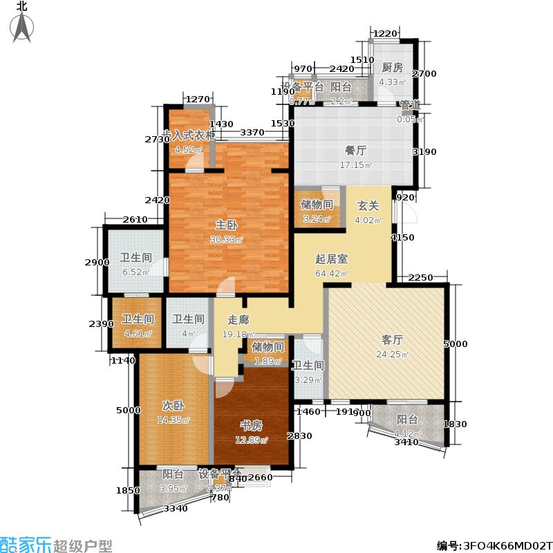 银河湾218.94㎡银河湾户型图7号楼C3三室两厅三卫(15/21张)户型10室