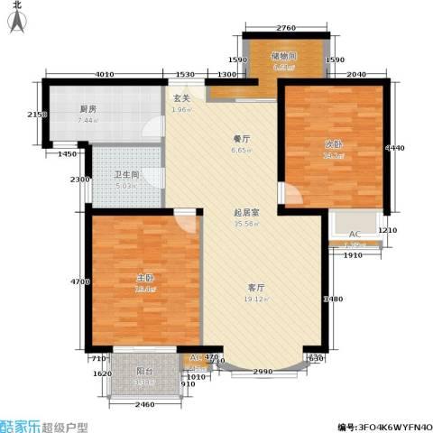 虹口现代公寓2室0厅1卫1厨100.00㎡户型图