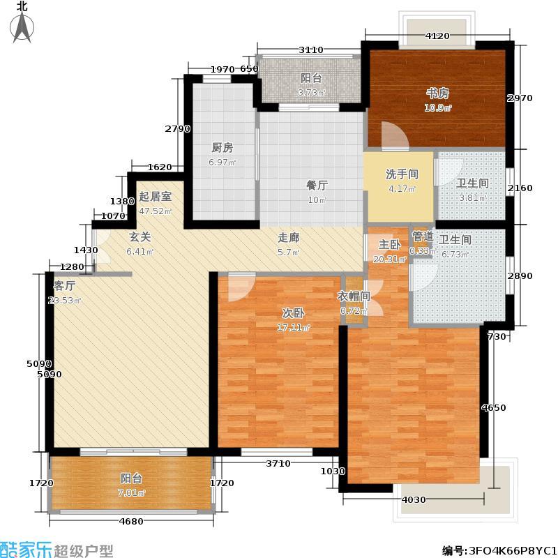虹桥馨苑140.00㎡房型: 三房; 面积段: 140 -140.94 平方米; 户型