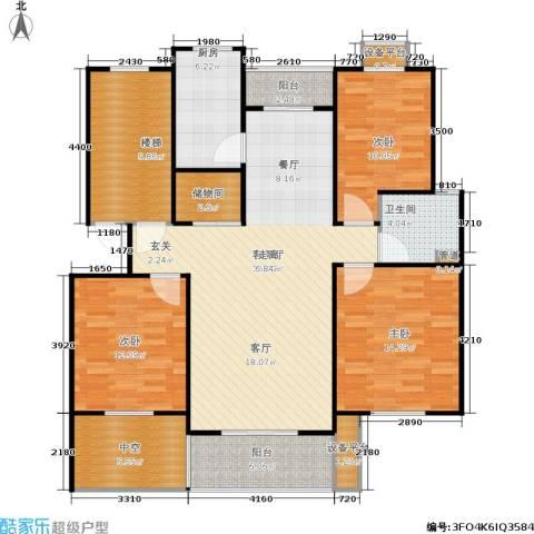 嘉定颐景园3室1厅1卫1厨121.00㎡户型图