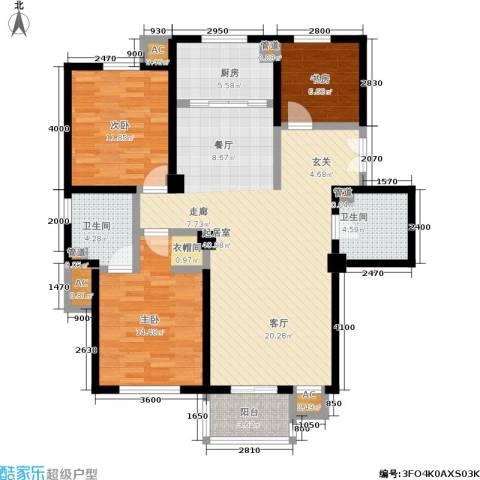 唯美品格3室0厅2卫1厨140.00㎡户型图