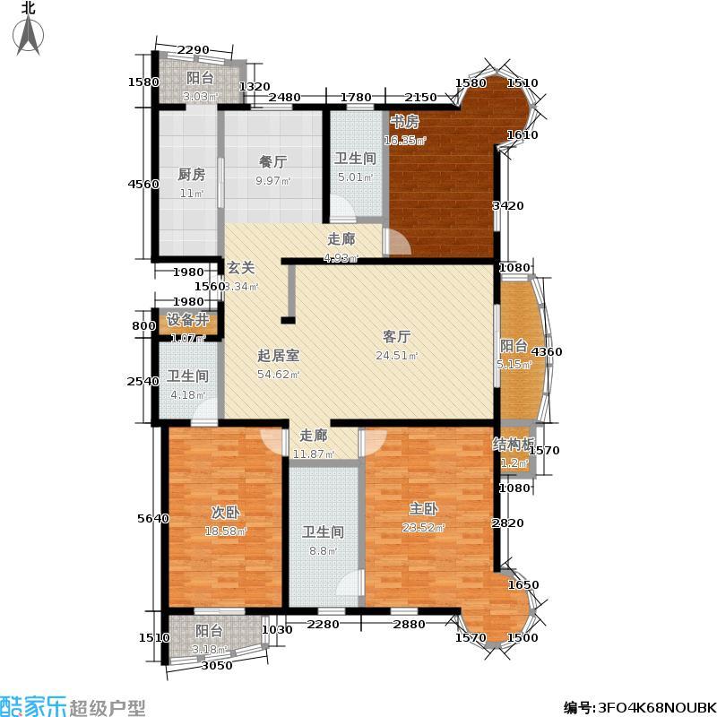 银河湾195.03㎡银河湾户型图5号楼C10三室两厅三卫(5/21张)户型10室