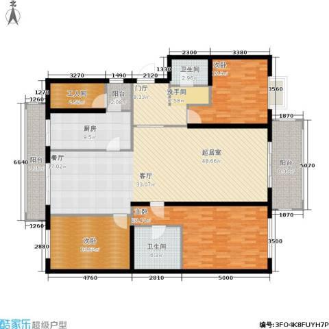 宅美诗3室0厅2卫1厨161.05㎡户型图