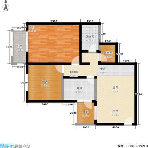 京东丽景苑2室0厅1卫1厨94.00㎡户型图