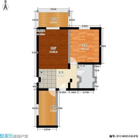 京东丽景苑1室0厅1卫1厨62.00㎡户型图